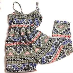 Old Navy | Geometric patterned jumpsuit | M